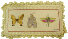 3 Bugs Needlepoint Pillow