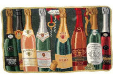 Champagne Needlepoint Pillow