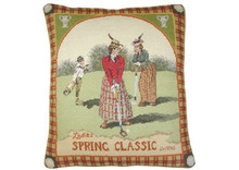 Golf Needlepoint Pillow (Spring Classic)