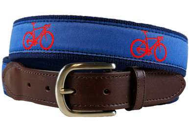 road bike tab ribbon belt II on blue