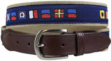 nautical flags ribbon tab belt