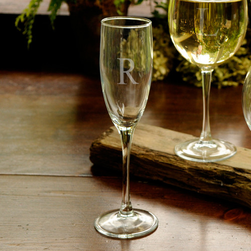 Personalized Champagne Glass