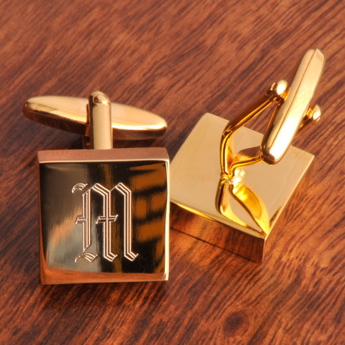 Brass Gifts For Wedding Anniversary: Personalized Brass Cufflinks