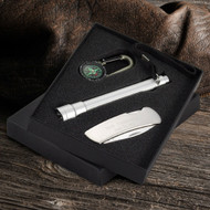 Personalized compass and travel set