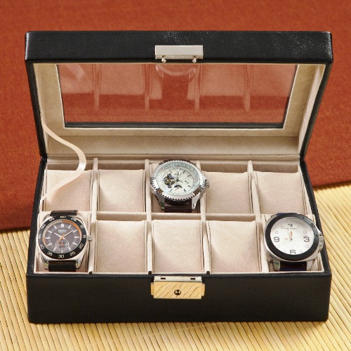 Leather Gifts For Men For Wedding Anniversary: Personalized Leather 3rd Anniversary Watch Box