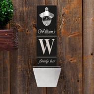 Personalized family bar bottle opener