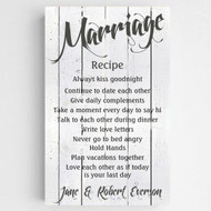 Personalized Marriage Recipe Canvas