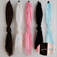 Personalized Pashminas in black, white, pink, blue or chocolate