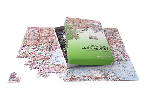 Personalized map of your home jigsaw puzzle