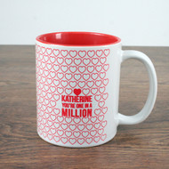 Personalized one in a million coffee mug
