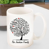 Personalized 20th Anniversary large family tree mug