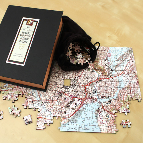 Wooden Anniversary Jigsaw Puzzle Map