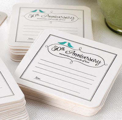 50th anniversary party coasters