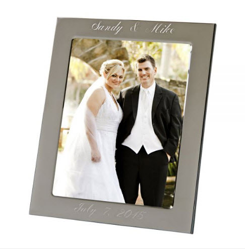 "Engraved Silver Anniversary Photo Frame 8"" x 10"""