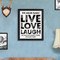 Personalized Couple's Live, Love, Laugh framed print