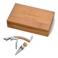 Personalized Wooden Wine Kit