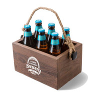 Personalized Wooden Beer Caddy