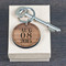 Wooden key chain engraved with your own special message