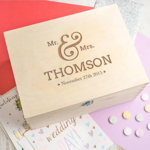 Personalized Anniversary Memory Box