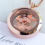 Personalized Love You To Pieces Necklace In Rose Gold