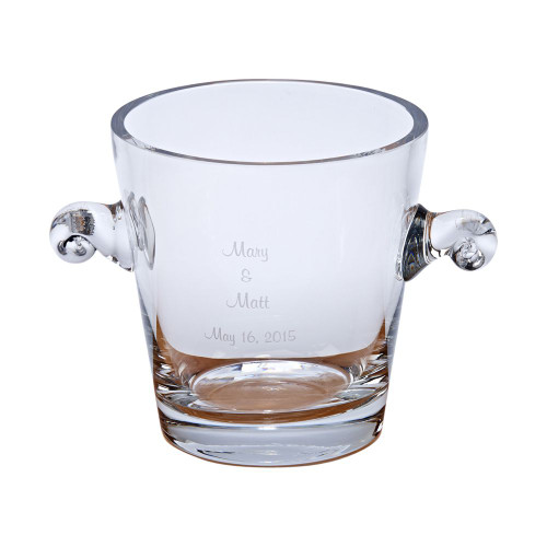 Personalized Crystal Anniversary Ice Bucket