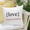 Personalized Love Pillow - perfect anniversary gift