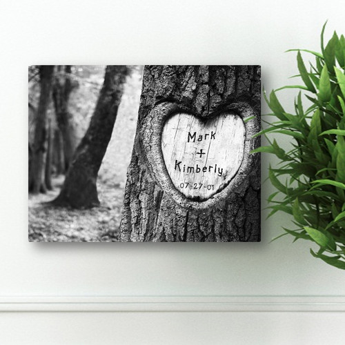 Australian Wedding Anniversary Gifts By Year: Personalized Anniversary Love Tree Canvas