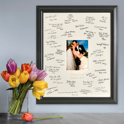 Wedding anniversary signature frame