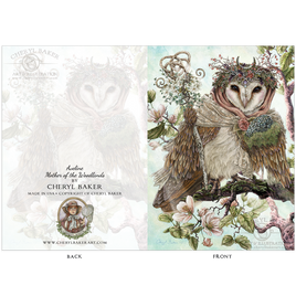 Mother Owl of the Woodlands Greeting Card