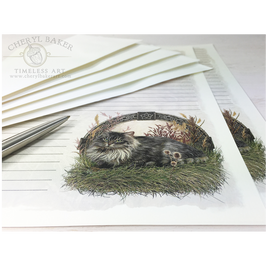 Celtic Cat Stationery Paper