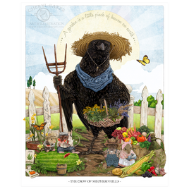 Farmer Crow Country Decor