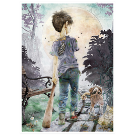 Boy with Dog Walking Dead Merchandise