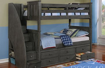 Shop Bunk Beds With Stairs For Kids Kids Furniture Warehouse