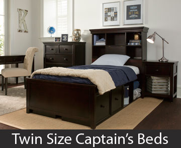 Twin Size Captain's Beds