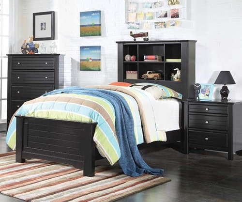 Mallowsea Bookcase Bed Full Size Black | Acme Furniture | ACM 30375F