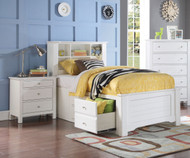 Mallowsea Bookcase Storage Bed Full Size White | Acme Furniture | ACM-30415F