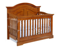 Allen House Waterford Curved Convertible Crib Pecan | Allen House | AH-C-WCPC-02