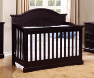 Allen House Waterford Curved Convertible Crib Espresso | Allen House | AH-C-WCPC-06
