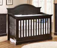 Allen House Waterford Curved Convertible Crib Graphite Grey | Allen House | AH-C-WCPC-09