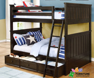 Allen House Brandon Full over Full Bunk Bed Graphite Grey | Allen House | AH-J-FF-09