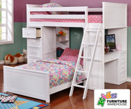 Allen House Student Loft Bed White | Allen House | AH-SL-TT-01