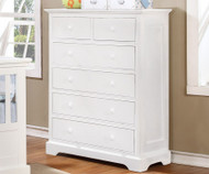 Allen House 6 Drawer Chest White | Allen House | AH-W1006-01