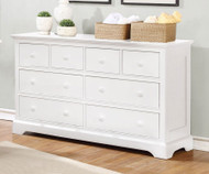 Allen House 8 Drawer Dresser White | Allen House | AH-W1008-01