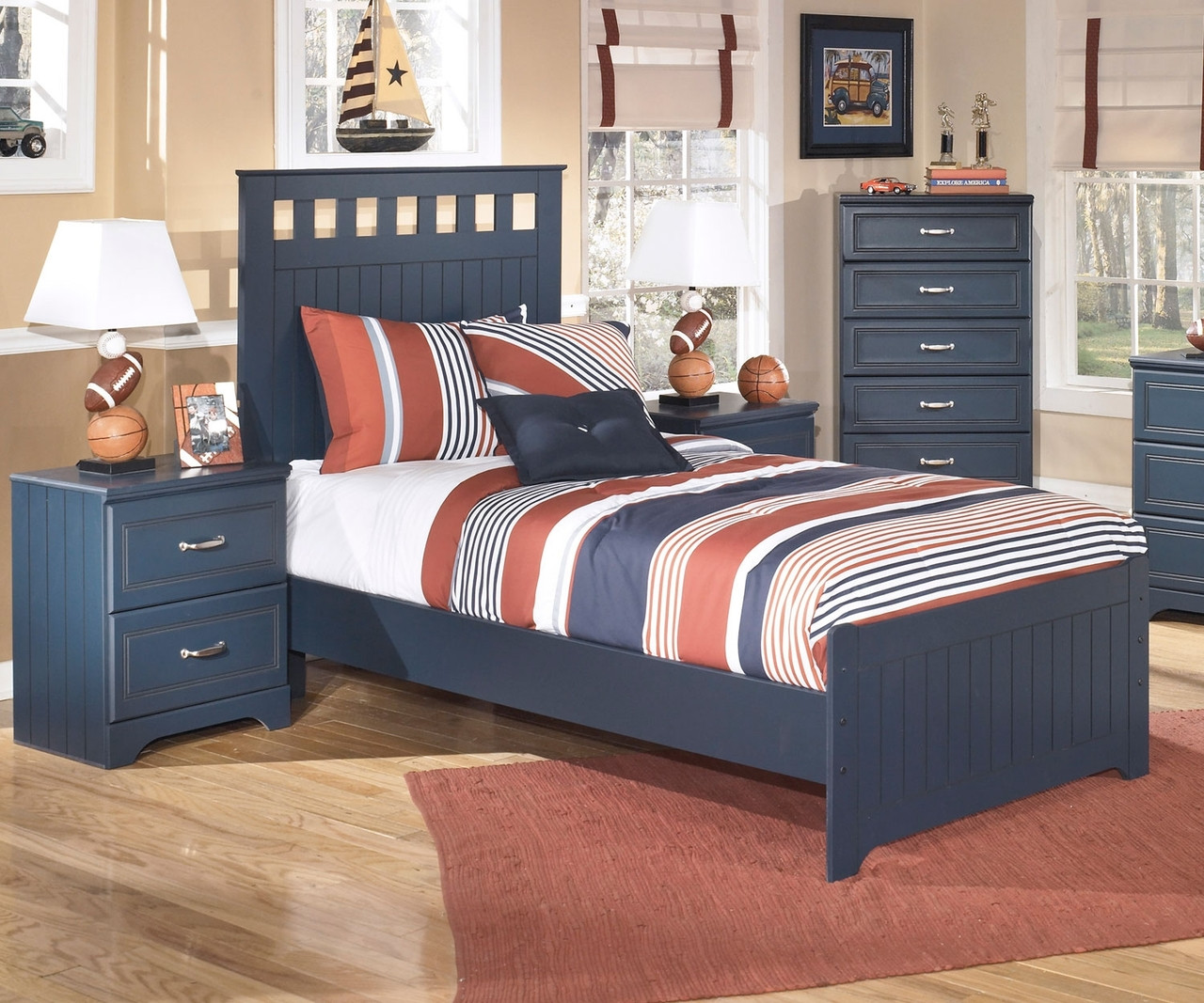 Leo B103 Twin Size Panel Bed Ashley Kids Furniture