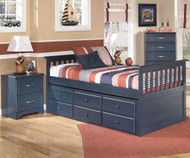 Leo Captain's Trundle Bed Twin Size | Ashley Furniture | ASB103-538350DT