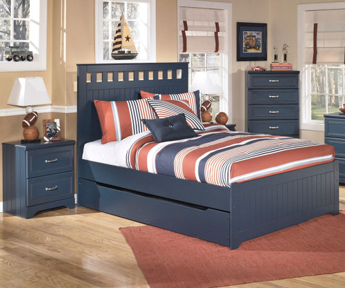 leo panel bed with trundle full size ashley furniture