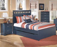Leo Panel Bed with Trundle Full Size | Ashley Furniture | ASB103-848687X
