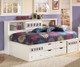 Zayley Bookcase Storage Bed Twin Size | Ashley Furniture | ASB131-518285