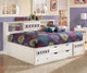 Zayley Bookcase Storage Bed Full Size | Ashley Furniture | ASB131-518588