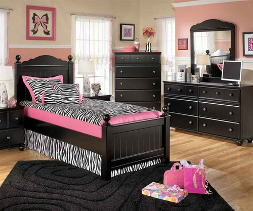 jaidyn black twin poster bed ashley furniture asb15054nx
